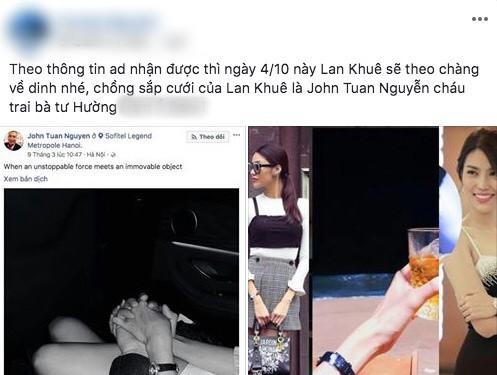 Bạn trai tin đồn lần đầu công khai đăng ảnh cùng Lan Khuê, phải chăng nghi án kết hôn là có thật?