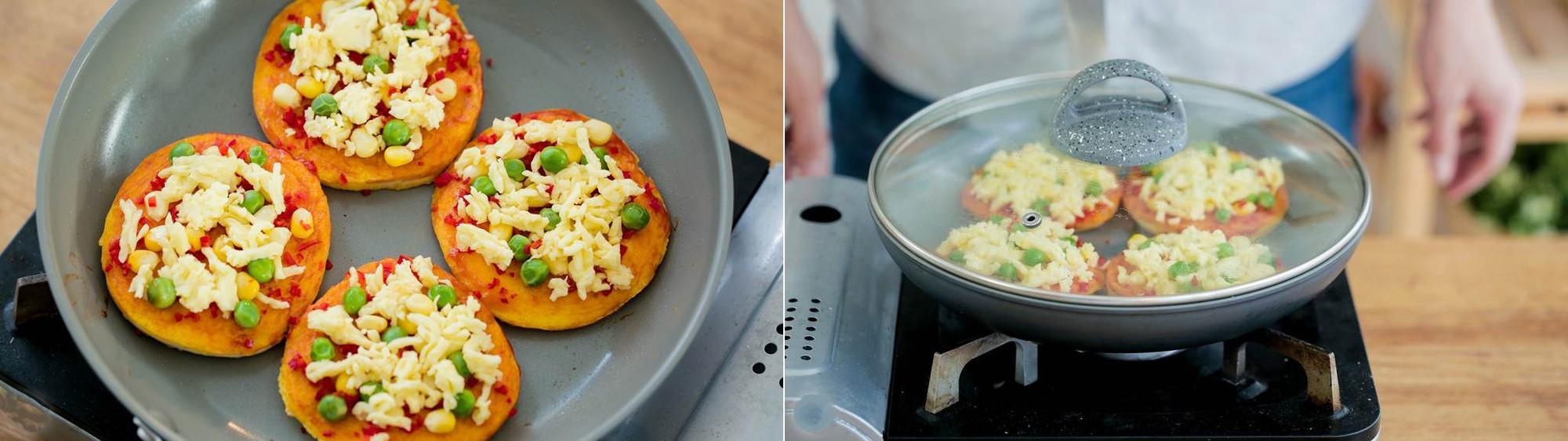 Pizza mini làm nhanh ăn ngon cho bữa sáng cuối tuần