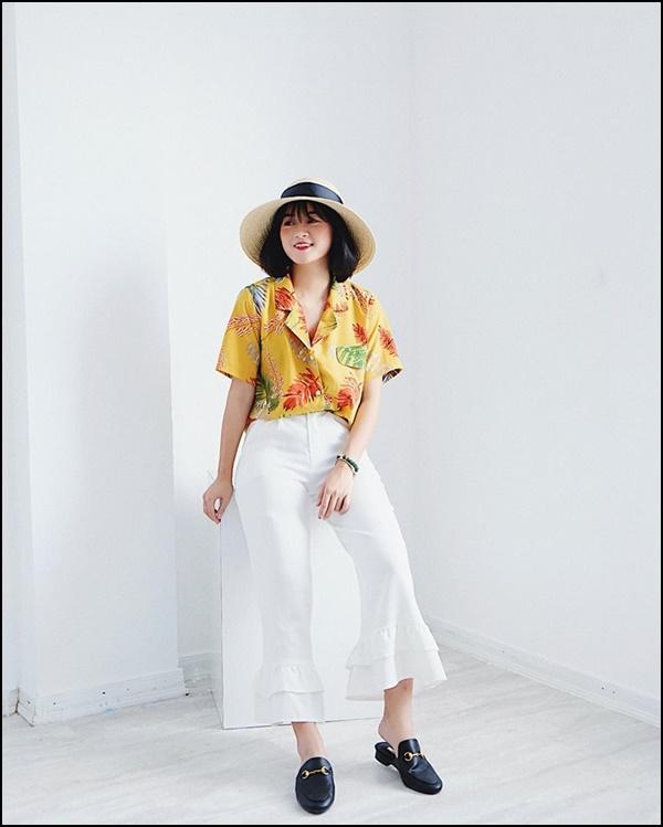 Xu hướng thời trang hè 2018: Phối đồ cực 'chảnh' với sơ mi pijama