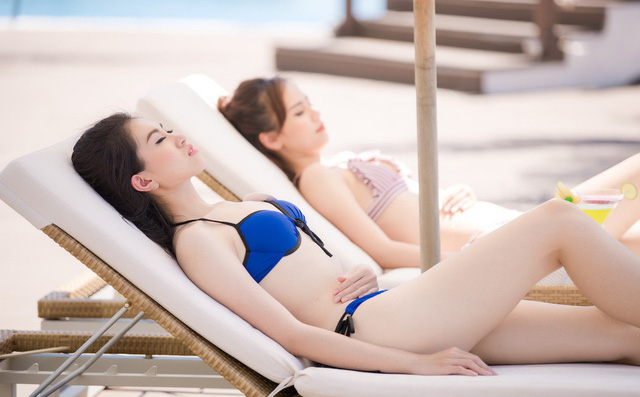 Thí sinh Hoa hậu Việt Nam 2018 khoe vẻ nóng bỏng với bikini