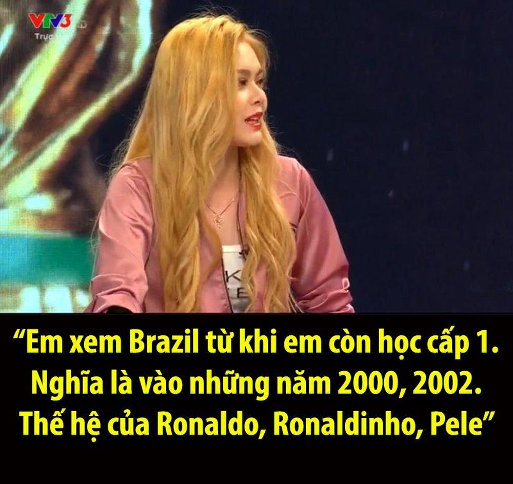 Nhiều bất ngờ về hotgirl bị ném đá trên VTV sau bình luận về tuyển Brazil