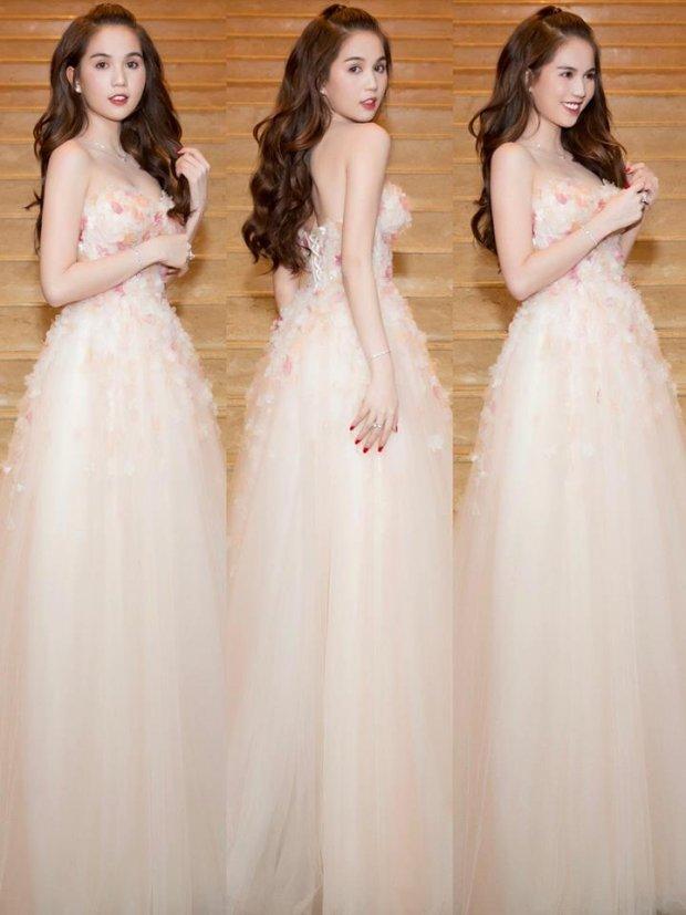 Mặc váy công chúa nhưng Ngọc Trinh vẫn thẳng thắn khoe vòng 1 căng tràn gợi cảm
