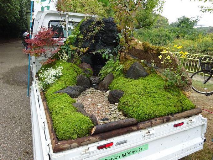 Những khu vườn đẹp như tranh trên xe tải của người Nhật