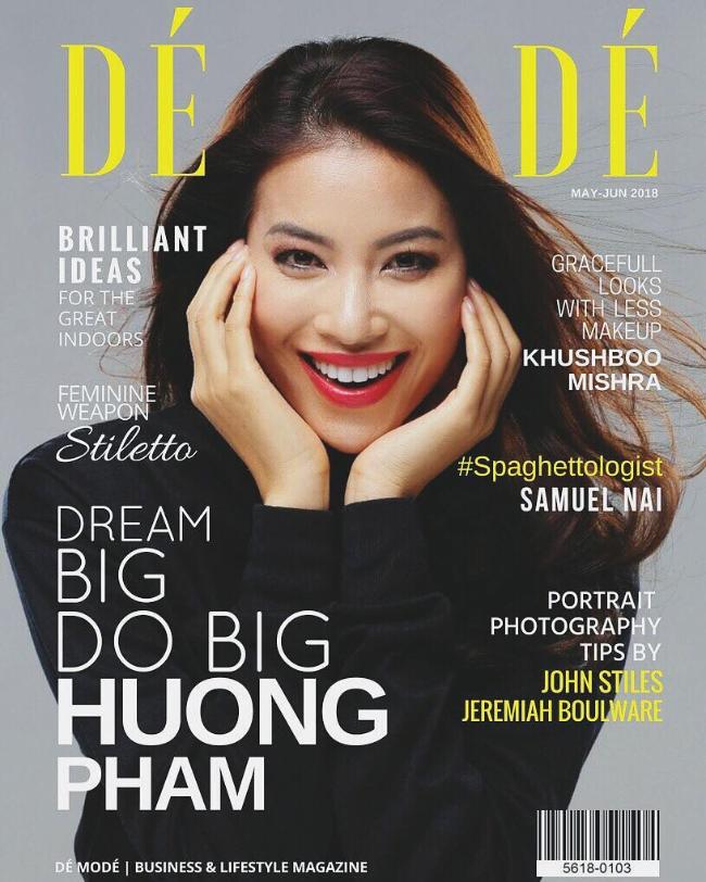Phạm Hương rạng rỡ trên bìa tạp chí danh giá của Pháp