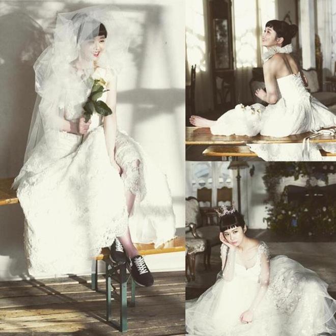 U40 Jang Nara khoe nhan sắc trẻ như thiếu nữ khi diện váy cưới