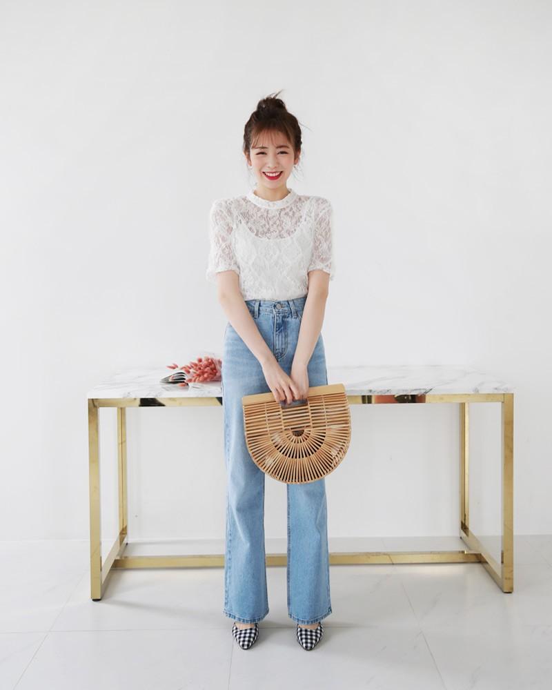 10 gợi ý mặc đồ với chất liệu ren mỏng mát cho nàng công sở những ngày trời nắng nóng