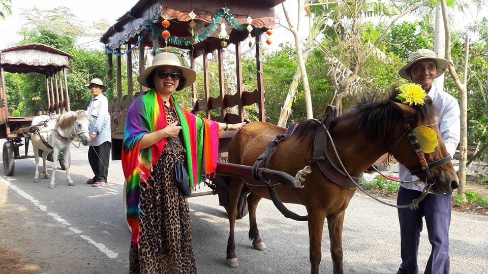 Về cù lao Thới Sơn lắc lư trên xe ngựa, thong dong ngắm miệt vườn