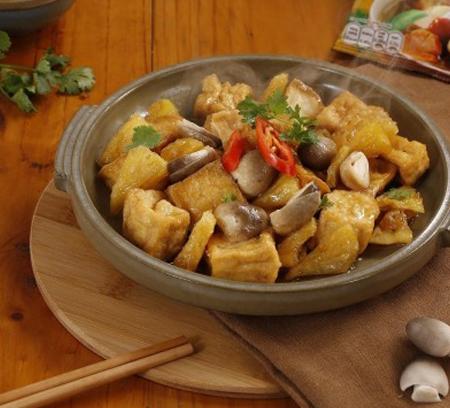 Vào bếp làm món đậu phụ kho nấm đậm đà cho bữa cơm chay đầu tháng nào