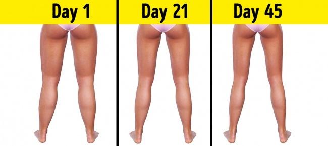 Sở hữu đôi chân thon gọn chỉ với 3 phút trước khi đi ngủ