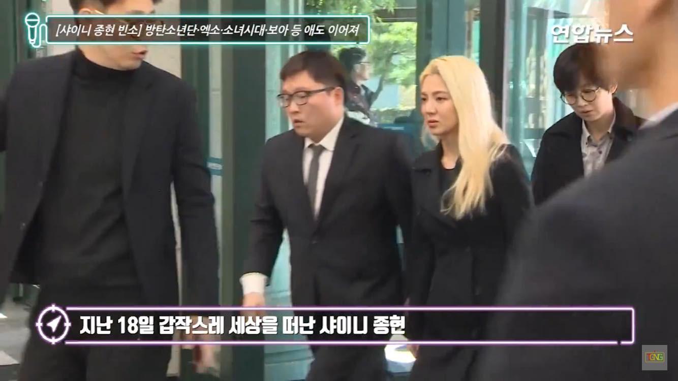 Dàn sao đình đám xứ Hàn và fan khóc thương Jonghyun trong lễ viếng trưa nay