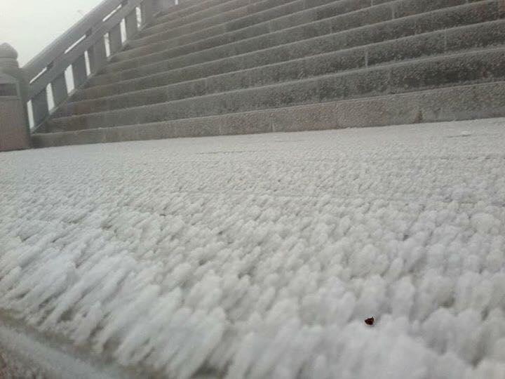 Băng tuyết phủ trắng xóa đỉnh Fansipan trong ngày nhiệt độ giảm xuống thấp nhất mùa Đông này