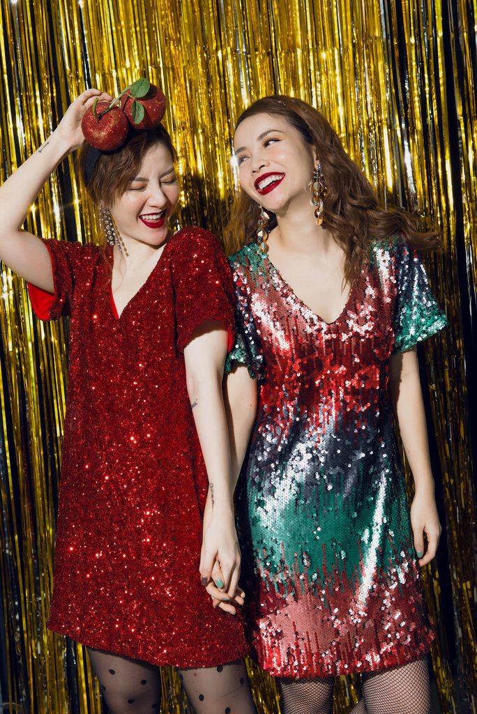 Chị em Yến Trang - Yến Nhi gợi ý lên đồ Giáng Sinh nổi bật và sành điệu