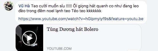 Đàm Vĩnh Hưng, Vũ Hà mỉa mai Tùng Dương hát Bolero: Giọng hát quanh co như đang leo đèo trong đêm Noel