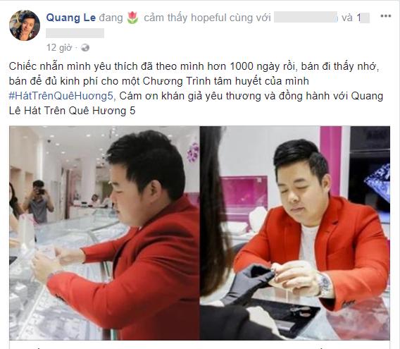 Thường xuyên khoe giàu, ông hoàng khoe của Quang Lê vẫn phải bán nhẫn kim cương 2 tỷ để làm show