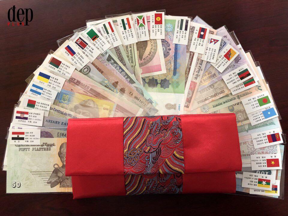 Phát sốt với bộ tiền may mắn của 28 nước trong ngày Tết