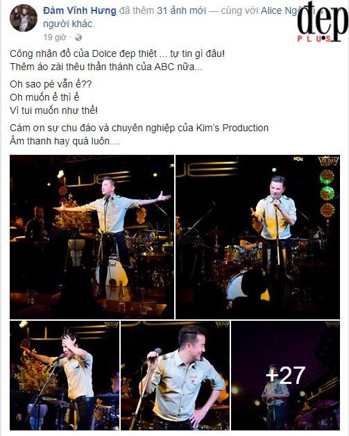 Đầu năm, Đàm Vĩnh Hưng lên Facebook than ế