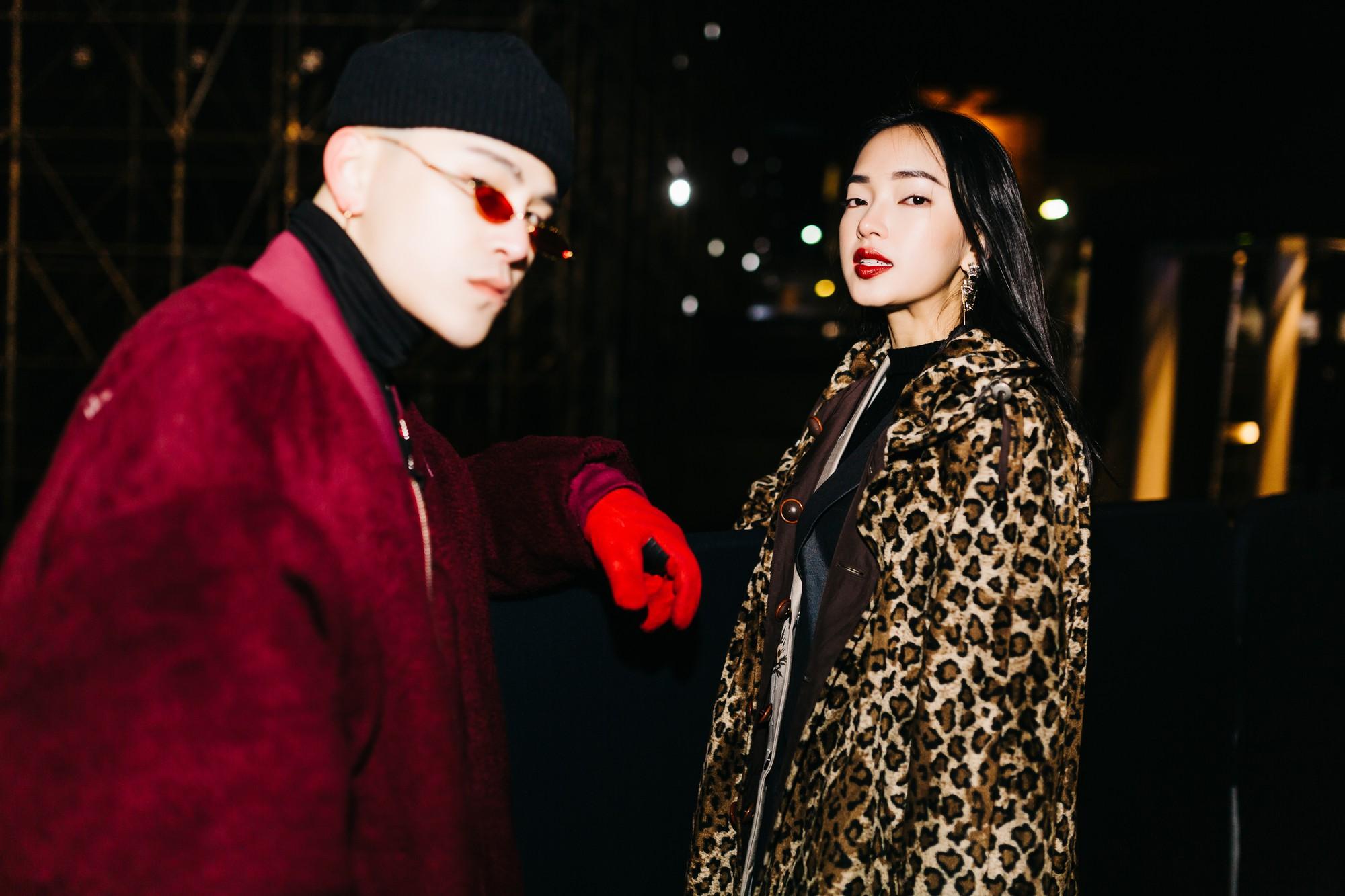 Châu Bùi - Decao tình tứ, sang chảnh dự show Saint Laurent Fall 2018 tại Paris
