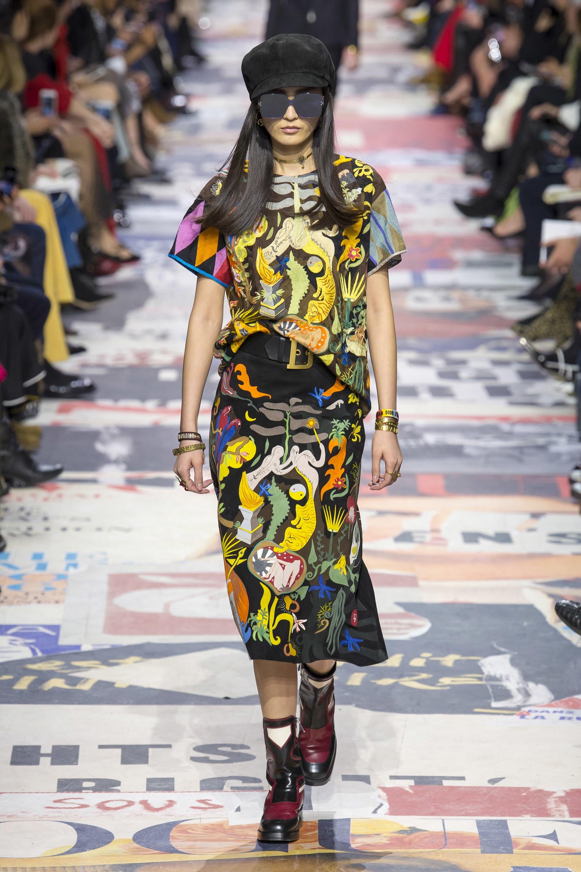Mãn nhãn với bộ sưu tập trẻ trung, đầy màu sắc của Dior Fall 2018