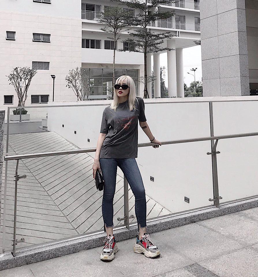 Sao Việt đồng loạt lăng xê xu hướng sneaker thô kệch năm 2018