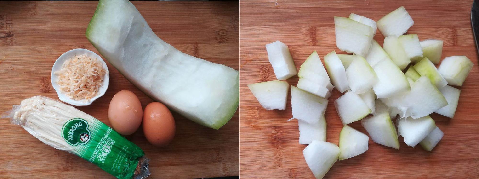 Ngọt lành thanh mát canh bí đao nấu nấm