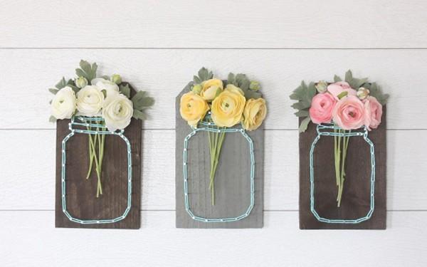 Tự làm tranh lọ hoa 3D trang trí tường lạ đẹp