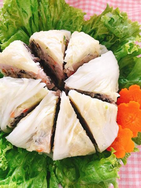 Cải thảo cuộn thịt hấp ngọt ngon