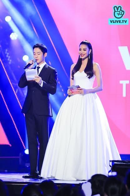 Sao phim Chị đẹp Jung Hae In bất ngờ sánh đôi cùng hoa hậu Phạm Hương