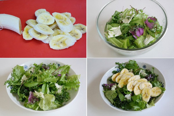 Giảm cân giữ dáng đẹp da với 2 cách làm món salad chuối cực đơn giản