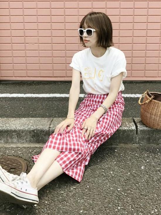 Ngày hè trẻ trung cùng trang phục ca rô
