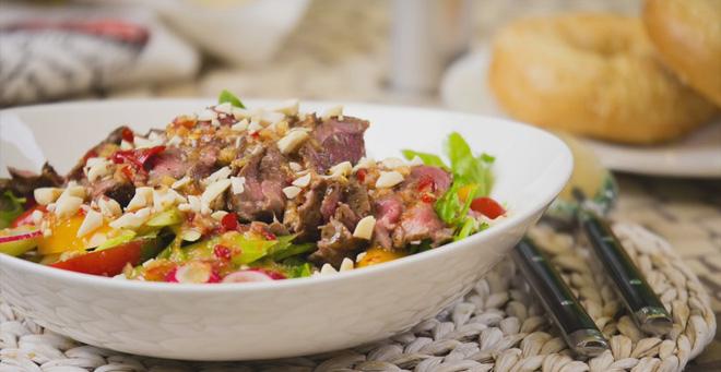 Salad bít tết làm nhanh ăn ngon hấp dẫn cực kỳ