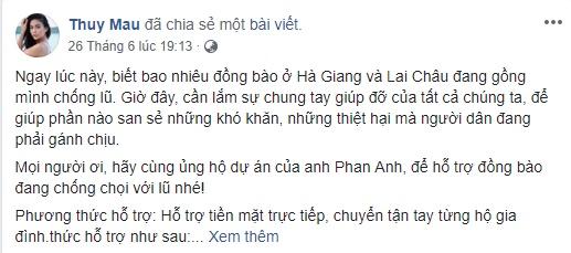 Á hậu Mâu Thủy lên tiếng về nhầm lẫn Lai Châu, Hà Giang thuộc…miền Trung
