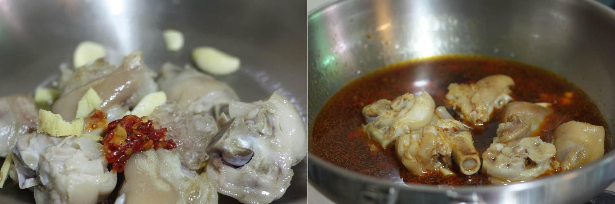 Thời tiết dịu mát và có mưa sao không làm ngay món chân giò om khoai tây mềm ngon đã đời