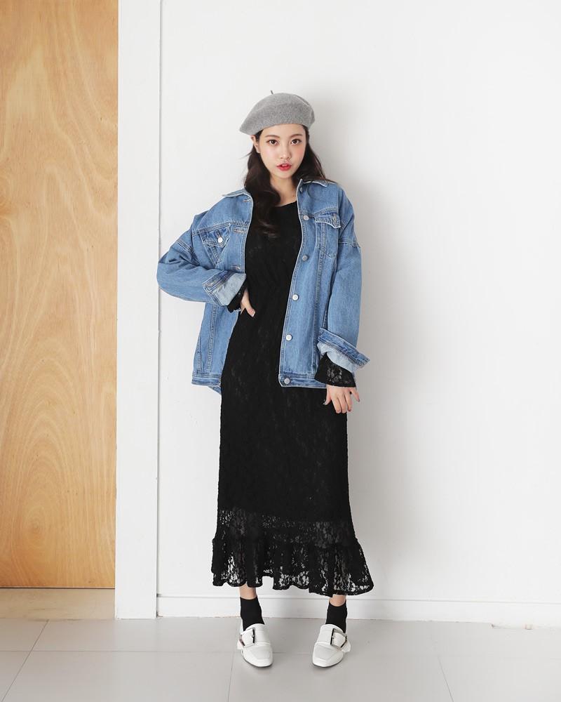 Sợ diện blazer già, áo khoác denim chính là lựa chọn thay thế cực trẻ trung dành cho các nàng công sở - 11