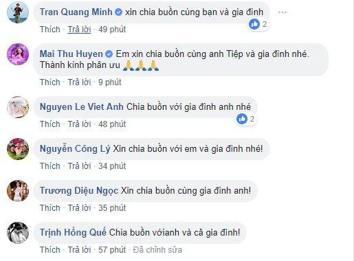 Việt Anh, Công Lý và loạt sao Việt gửi lời chia buồn khi bố của Minh Tiệp qua đời