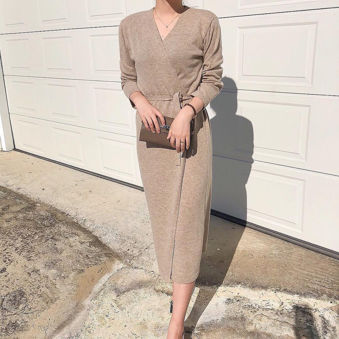 Váy dệt kim – chiếc váy mềm mại, đầy quyến rũ mà các nàng không thể làm ngơ trong những ngày trời se lạnh - 13