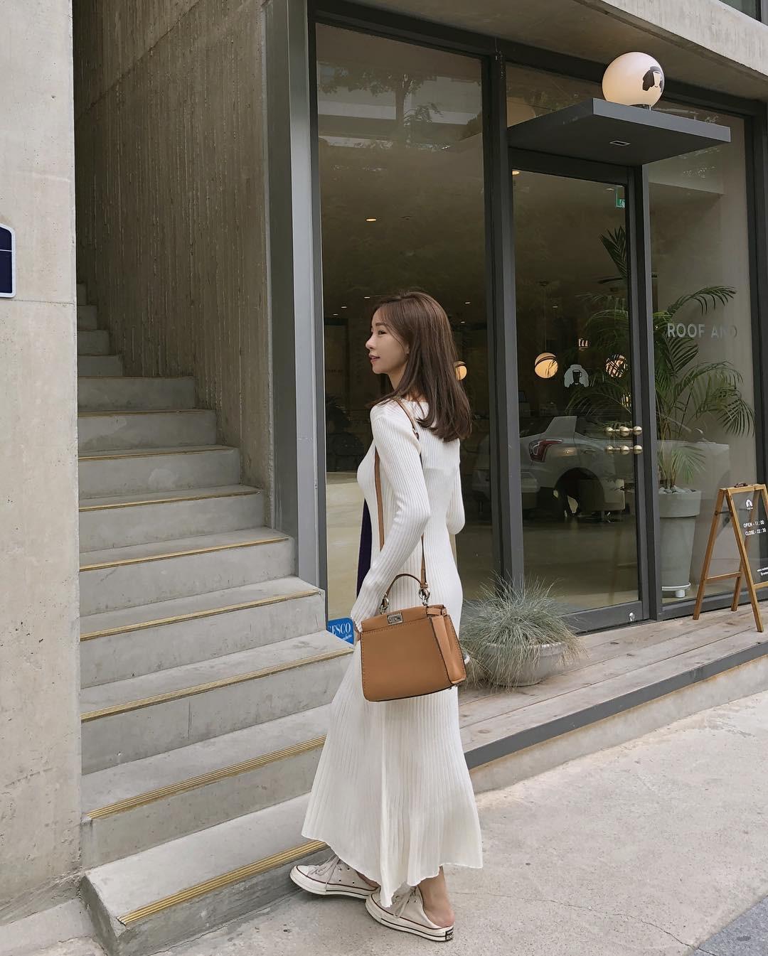 Váy dệt kim – chiếc váy mềm mại, đầy quyến rũ mà các nàng không thể làm ngơ trong những ngày trời se lạnh - 4
