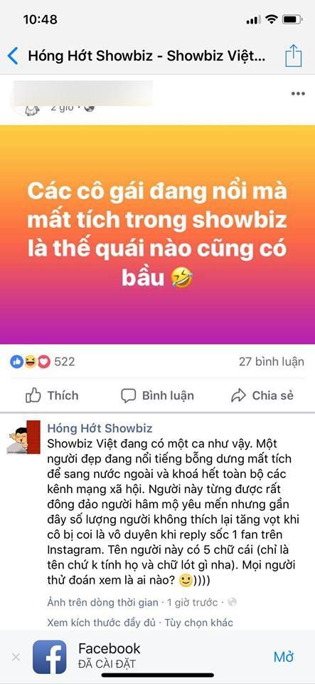 Trong khi Phạm Hương thông báo đi Mỹ dưỡng bệnh thì lại rộ lên tin đồn đi sinh con