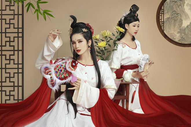 2 mỹ nhân BB Trần và Hải Triều hoá thân làm chị Hằng