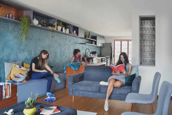 Không gian sống đẹp 'lộng lẫy' cải tạo từ ba ngôi nhà cũ - 4