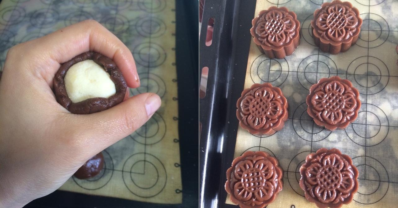Lạ ngon món bánh Trung thu vị phô mai chocolate - 3