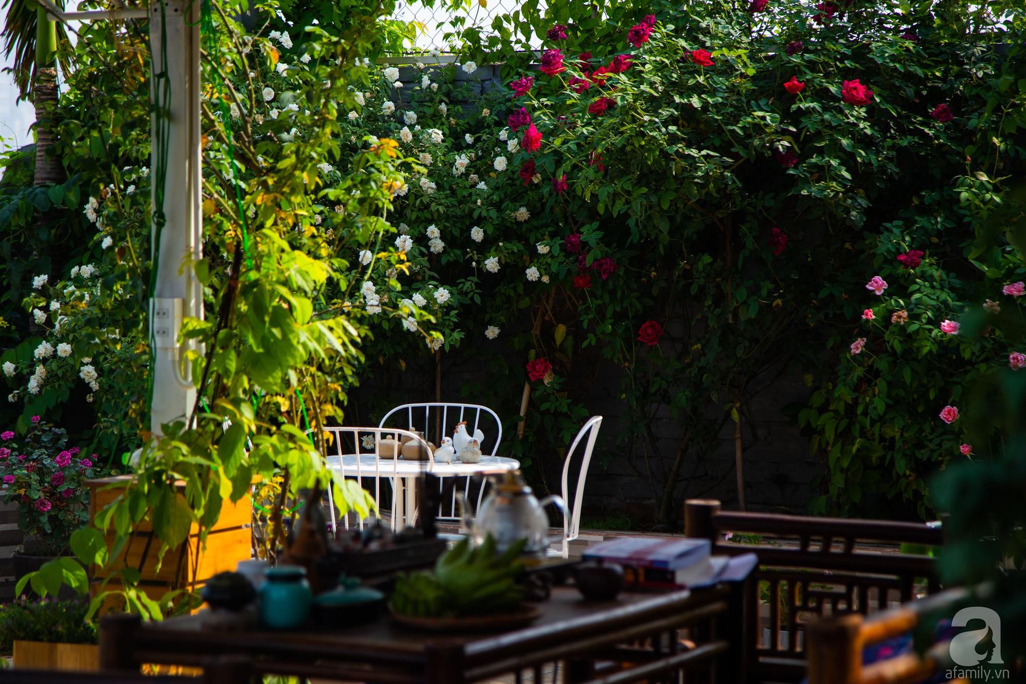 Khu vườn trên sân thượng rộng 200m² đẹp ngỡ ngàng với trăm loài hoa đua nhau khoe sắc ở Hà Nội - 10