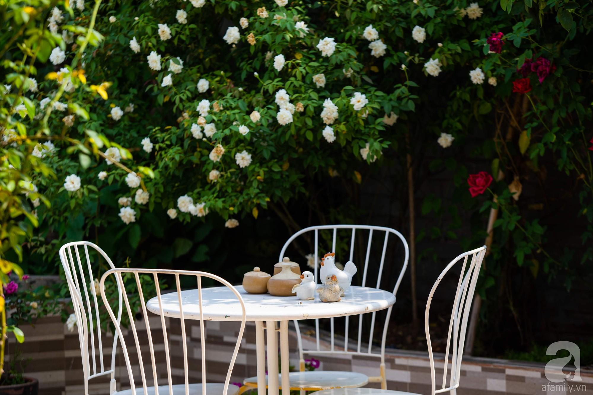 Khu vườn trên sân thượng rộng 200m² đẹp ngỡ ngàng với trăm loài hoa đua nhau khoe sắc ở Hà Nội - 8