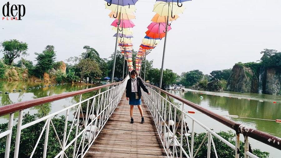 Cần gì phải đi Đà Nẵng khi Đồng Nai cũng có một cầu tình yêu đẹp thế này!