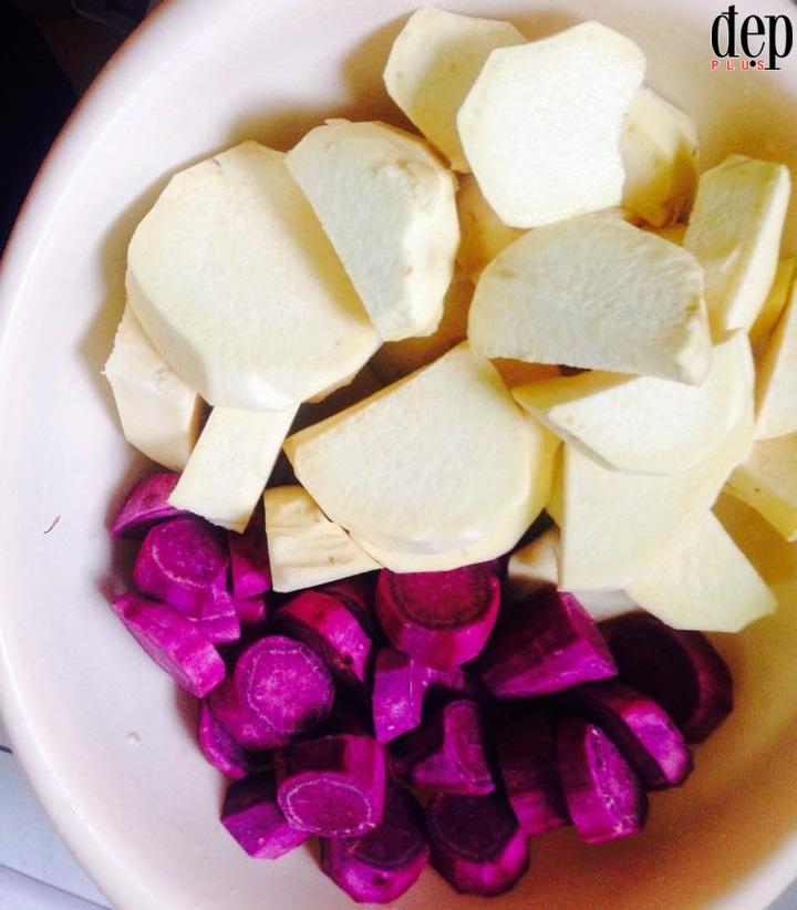 Hướng dẫn làm chè khoai dẻo cốt dừa ấm bụng ngày lạnh
