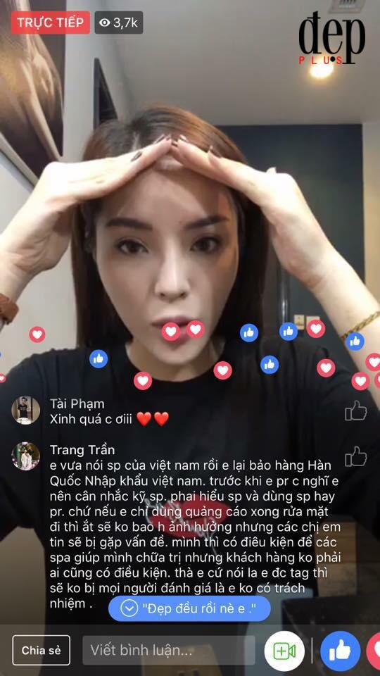 Đang livestream, hoa hậu Kỳ Duyên bị Trang Trần vạch mặt quảng cáo kem trộn không rõ nguồn gốc