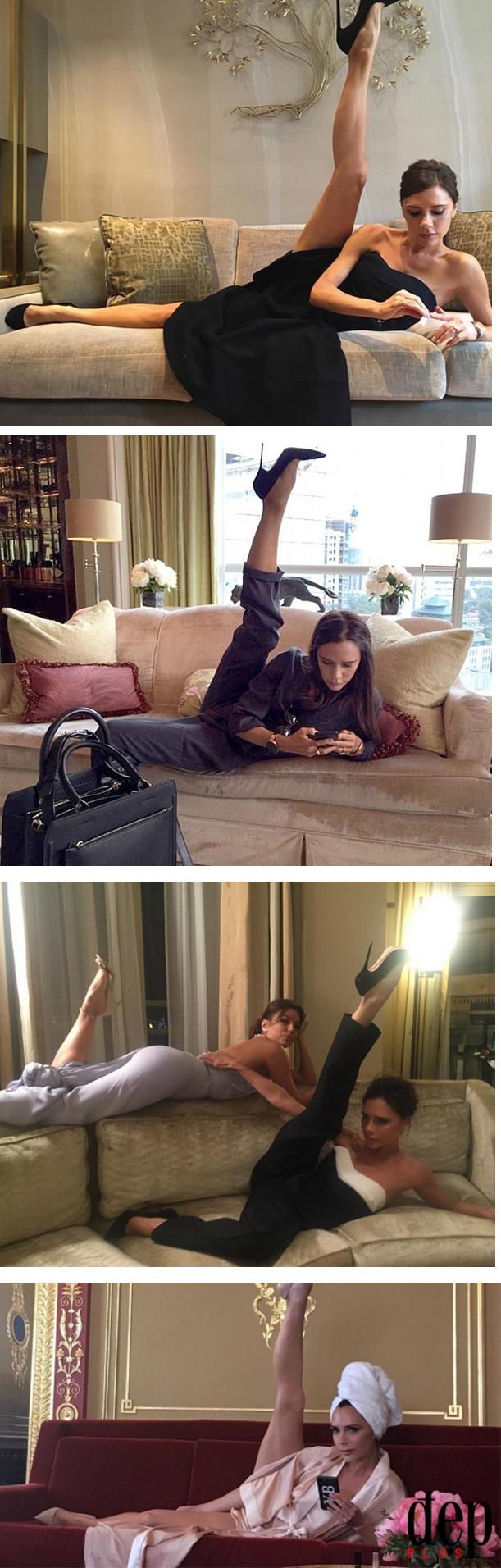 Bắt chước Victoria Beckham, Minh Tú tạo dáng sexy khoe chân gợi cảm