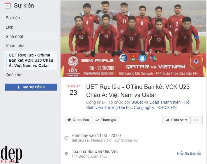 Chiều nay xem U23 Việt Nam và U23 Qatar ở đâu đông vui nhất?