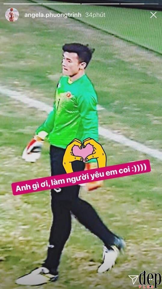 Angela Phương Trinh, Hoa hậu Đỗ Mỹ Linh và Minh Tú thi nhau khoe được thủ môn U23 Bùi Tiến Dũng thả thính