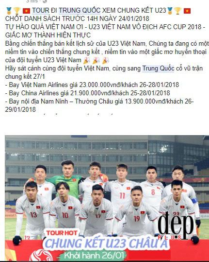 Tour du lịch Trung Quốc cổ vũ U23 Việt Nam sốt xình xịch trước thềm chung kết gặp U23 Uzbekistan