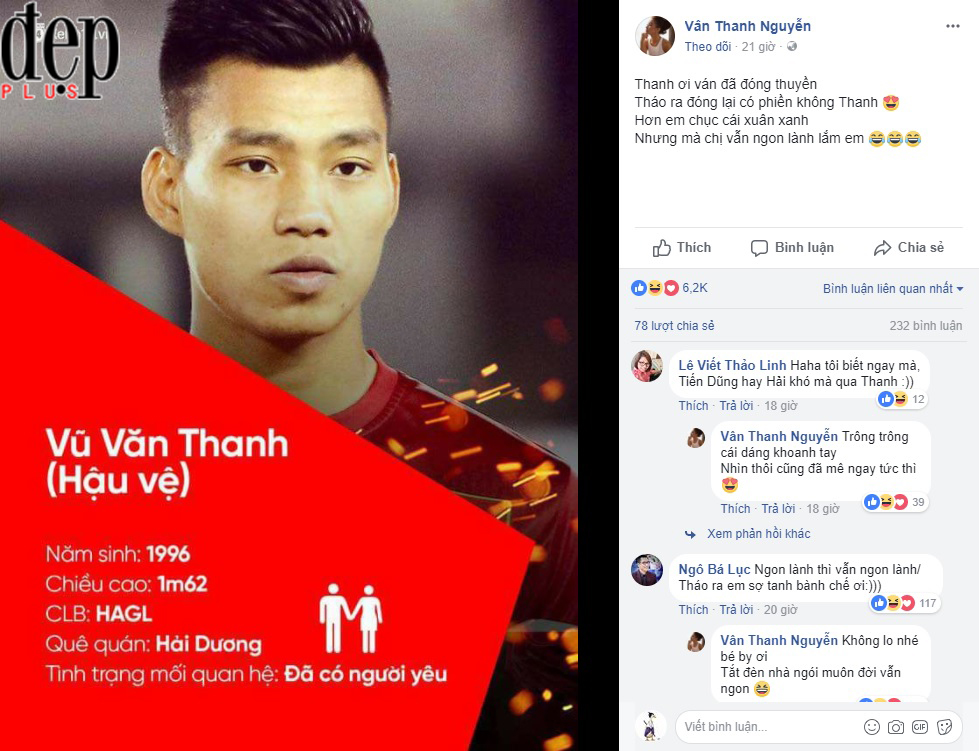 Làm thơ thả thính Văn Thanh U23 Việt Nam, Vân Hugo bị cư dân mạng khủng bố trang cá nhân